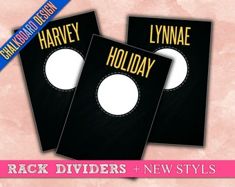 """Clothing Rack Dividers! H O Approved Fonts and Colors! 4x6"""" Print Ready; hanger tags; Pop-Up Boutique; clothing dividers; INSTANT DOWNLOAD"""