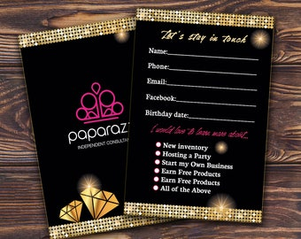 Paparazzi Customer Contact card - Let's stay in touch card for Jewelry Consultants / Printable Paparazzi marketing coupon Paparazzi business