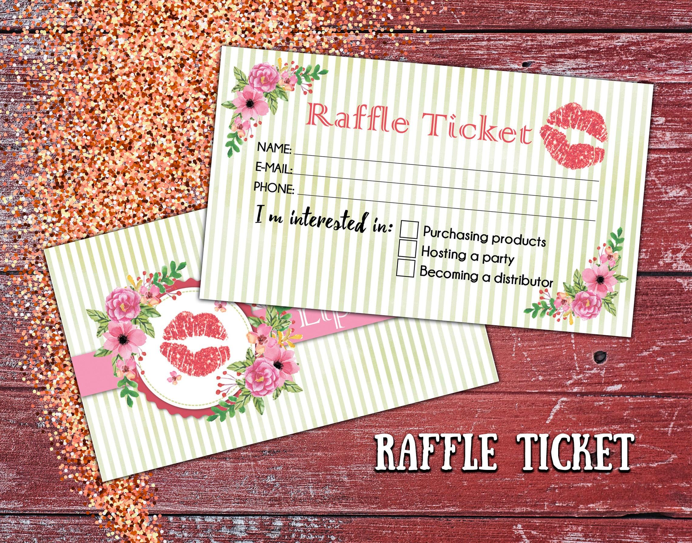 Sale Lipsense Raffle Ticket Cards Lipsense Ticket Lipsense Etsy