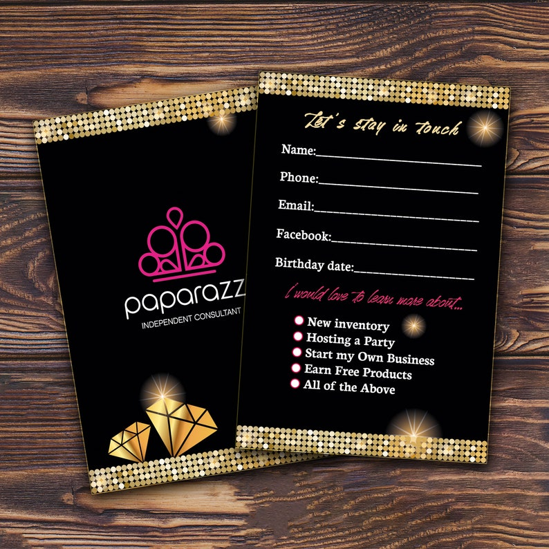 694bfe2005e18 Paparazzi Customer Contact card - Let's stay in touch card for Jewelry  Consultants / Printable Paparazzi marketing coupon Paparazzi business