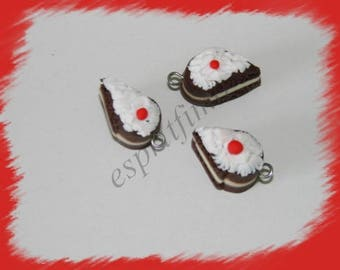 """Black Forest"" charm in polymer clay"