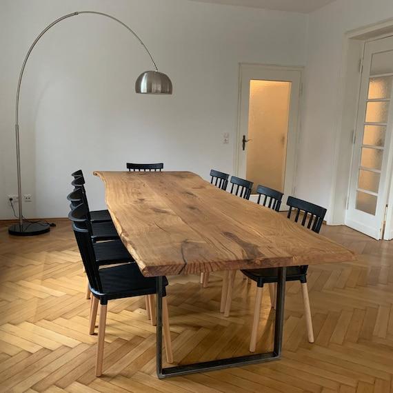 Mesa de comedor Oak mesa de madera de madera maciza mesa de árbol aceitada