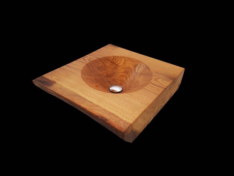 Legno lavandino lavello bacino dispersore di legno in | Etsy