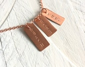 Personalized Jewelry Tag Stamped With Your Own Inspirational Word Name or Date - Stamp Charm Words Letters Numbers - Add-on Custom