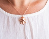 Copper Star Limpet Shell Pendant - Nature Inspired Necklace - Ocean Jewelry