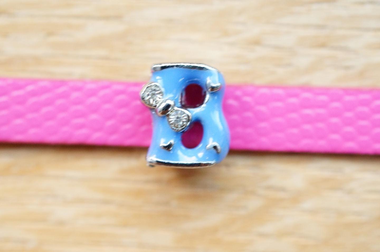 perle lettre passante B violette alphabet pour pour pour bracelets e4ba21