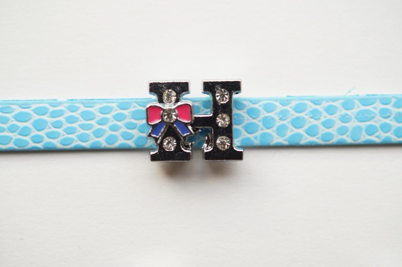 perle perle perle lettre passante H alphabet pour bracelets n6 e2328f