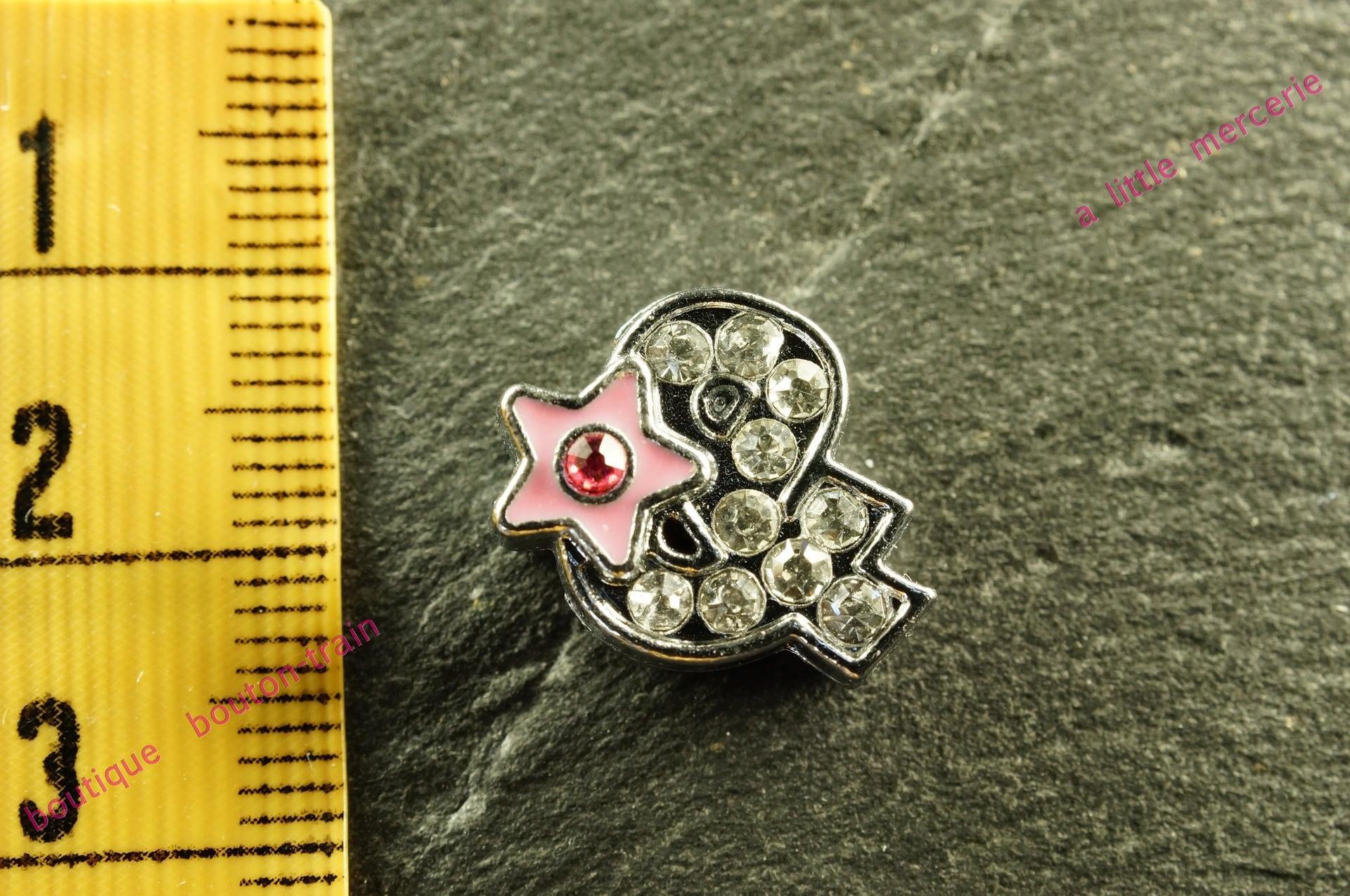 perle & passante passante passante étoile strass lettre symbole pour bracelet d228c0