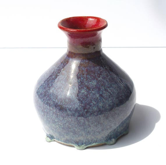 Purple Funky Vase Etsy