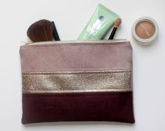 Purple, copper and purple makeup