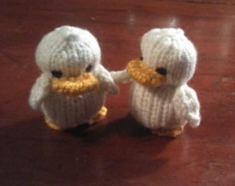 Knitted Ducklings, Set of Twins