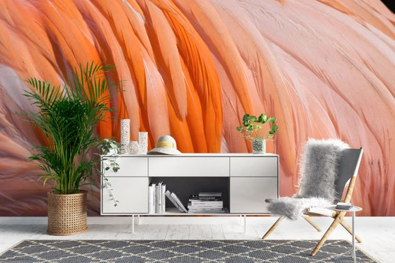Caribbean Flamingo Animal Wallpaper Mural Non Woven Wallpaper Made To Measure Feature Wall Wall Art Decals Home Wall Decor