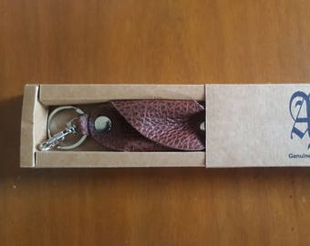 Brown Croc Style Key Chain
