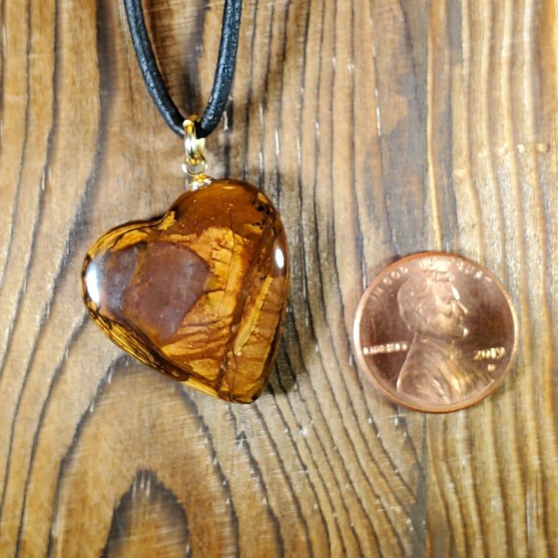 Biggs Picture Jasper Heart Pendant Necklace