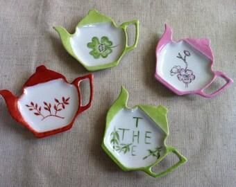 Rest different patterns porcelain tea bag