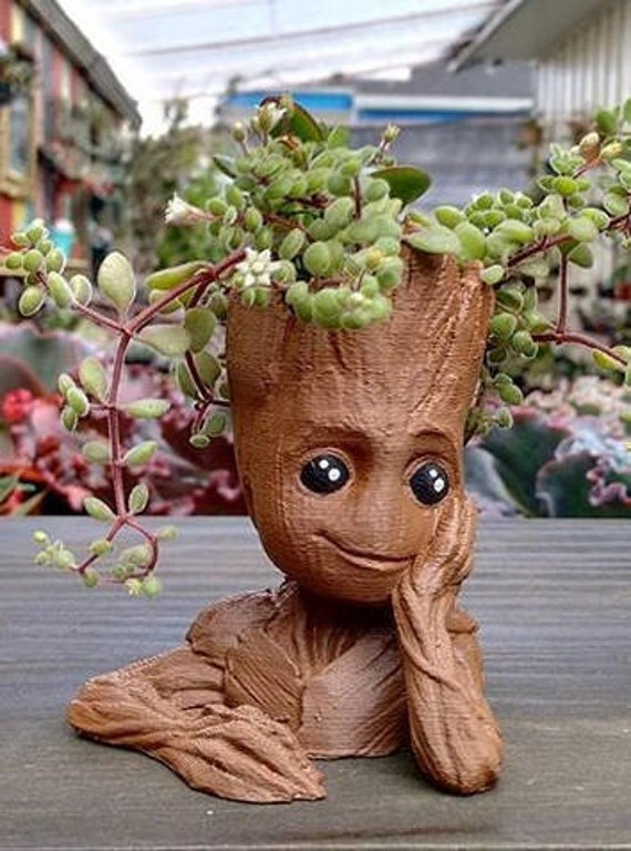 Baby Groot Flower Pot Succulents 3d Printed Planter Fan Art For Marvel Guardians Of The Galaxy