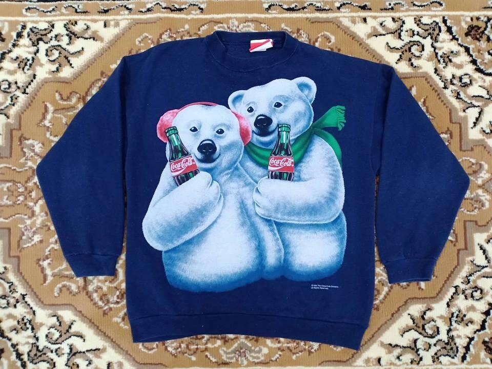 20 % DE vintage RÉDUCTION! Sweatshirt vintage DE COCA COLA 1994 / / très Rare Design / Coca Cola boisson / / taille L 6961fc