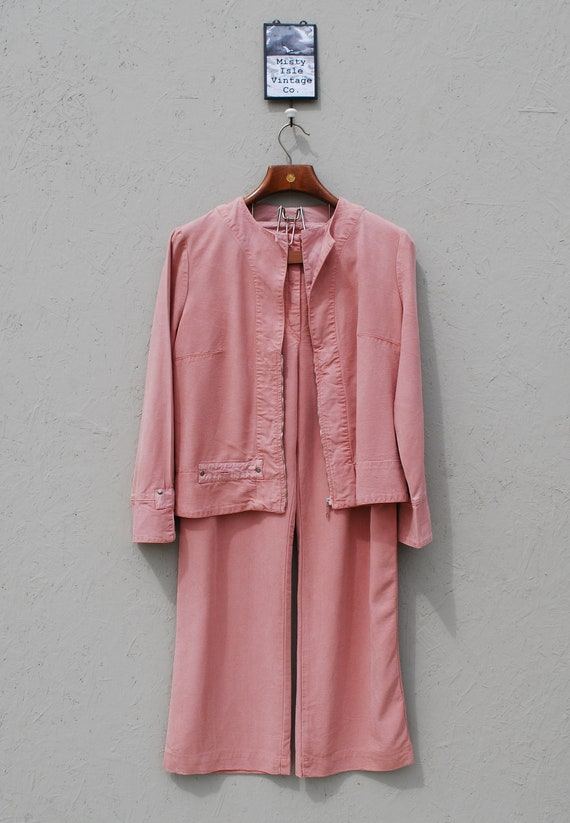 Vintage 90's Suit, Size Small Medium, Pale Pink Su