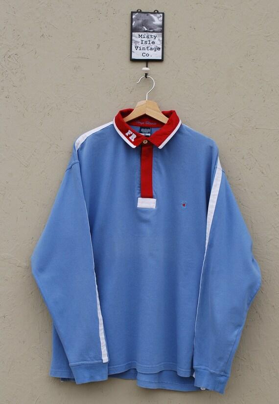 90' Rugby Shirt, Vintage Colourblock Rugby Shirt b