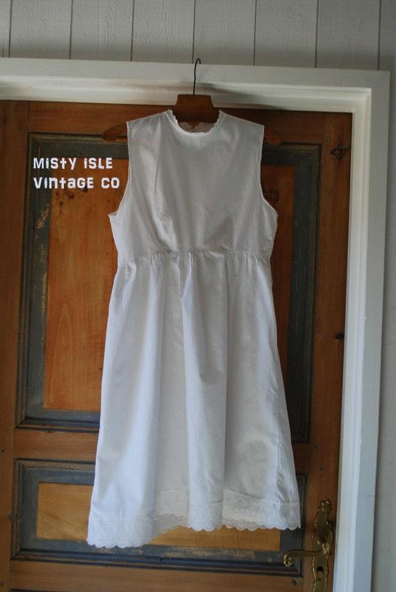 Antique White Child's Dress, Edwardian, Victorian