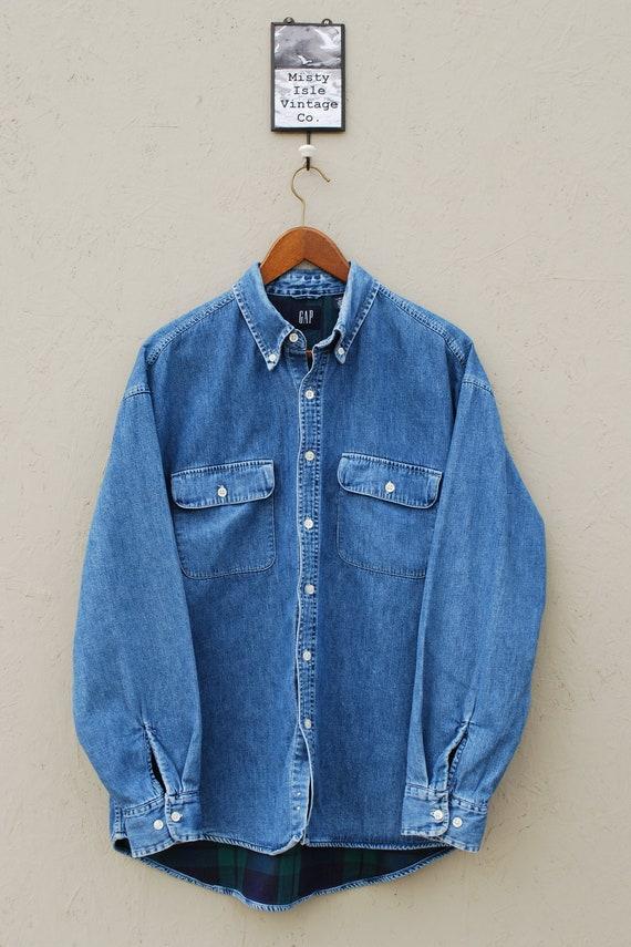 1990's GAP  Denim Shirt, Size: Large, Men's Shirt,