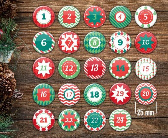 Christmas Advent Button Sets