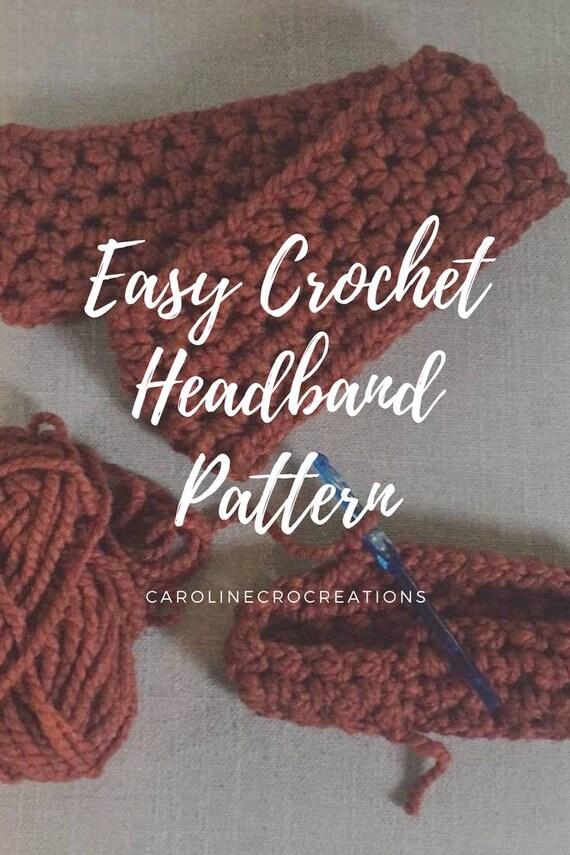 Easy Crochet Headband Pattern Etsy