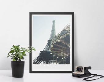Eiffel Tower Paris Poster Scandinavian Design Wall Art Print Fashion