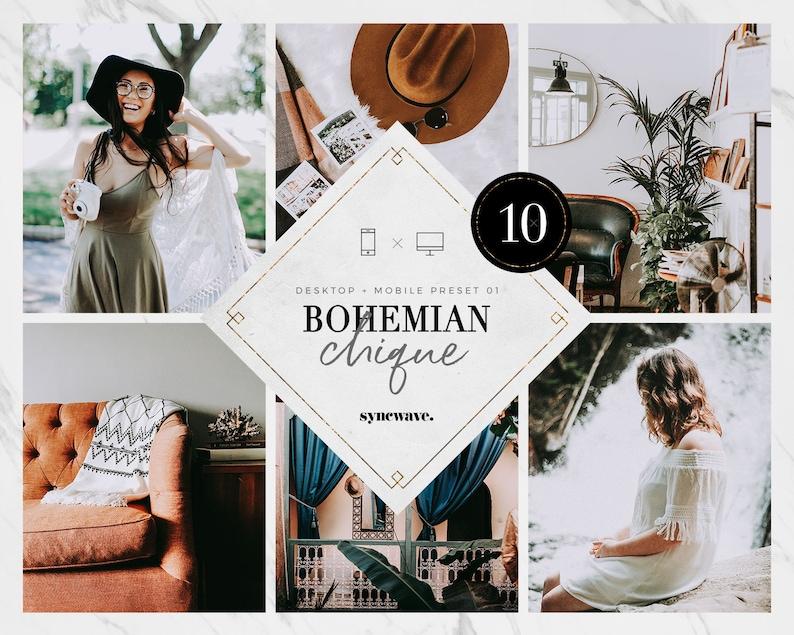 10 Desktop & Mobile Lightroom Preset Bundle  Boho Mobile image 0