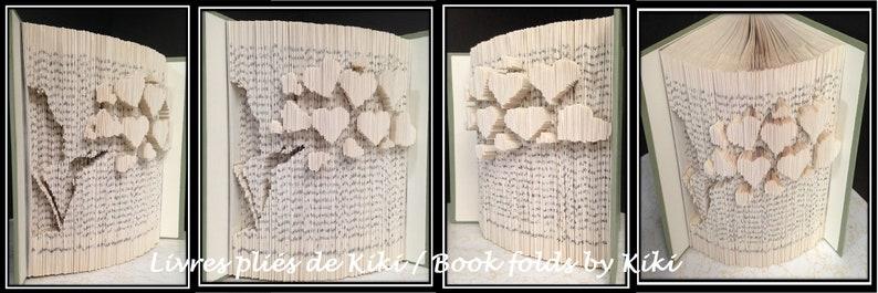 BLOWING HEARTS Book fold pattern    R684ML