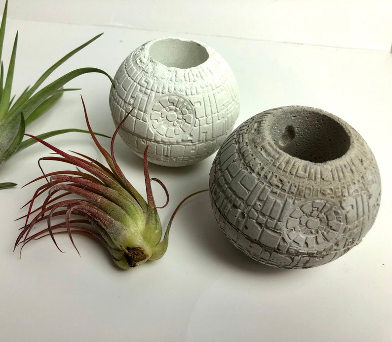 Small Concrete star wars death star-air plant image 6
