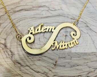 Personalized Infinity Necklace | Personalized Jewelry | Infinity Name Necklaces | Gold Name Necklace | Bridesmaid Gifts Ideas For Her