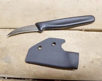 Pikal Knife Victorinox 2.5-inch Bird's Beak Paring / Fruit Knife with *black* pocket-hook KYDEX SHEATH
