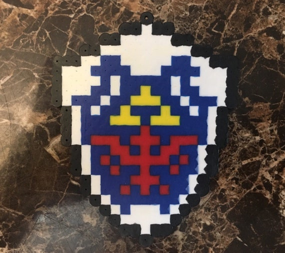 Items Similar To Legend Of Zelda Hylian Shield Pixel Art On