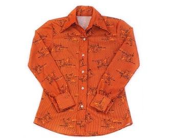 XS 0 IT 38 90s Italian designer stretch wool shirt vintage 1990s Piazza Sempione ivory blouse