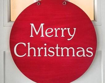 Christmas Door Hanger, Winter Door Hanger, Christmas Door Decor, Holiday Door Decor, Christmas Decor, Christmas Sign, Holiday Decor