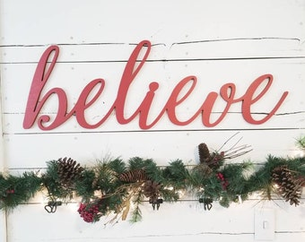 believe christmas sign etsy