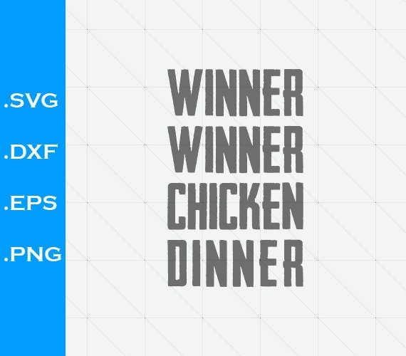 Pubg Winner Chicken Dinner Inspired Svg Dxf Videogames Etsy
