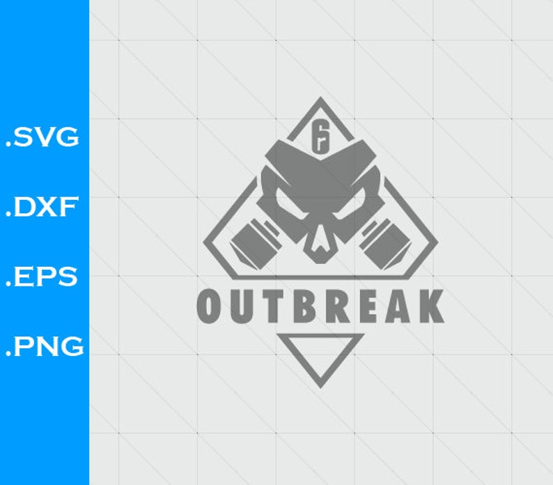 Rainbow Six Siege Outbreak Inspired Logo Svg File Clipart Etsy