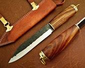 Medieval Work knife Celts Vikinghardwood leather sheath Sax Style MAQ1703