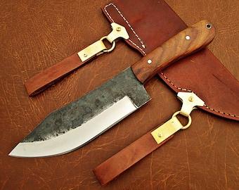 Medieval Work knife Celts Vikinghardwood leather sheath Sax Style MAQ1710