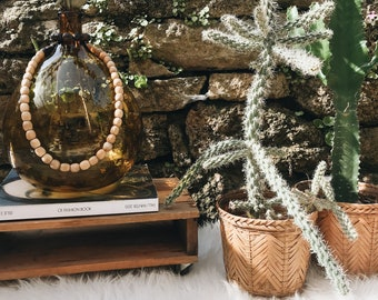 Set of two matching Wicker planter