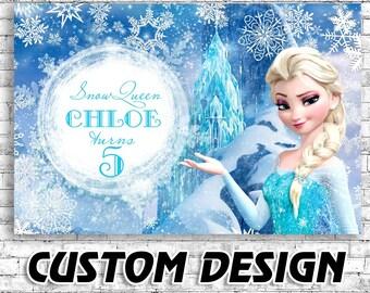 frozen birthday Frozen birthday banner | Etsy frozen birthday