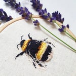 3D Hand Embroidered Bumble Bee Art