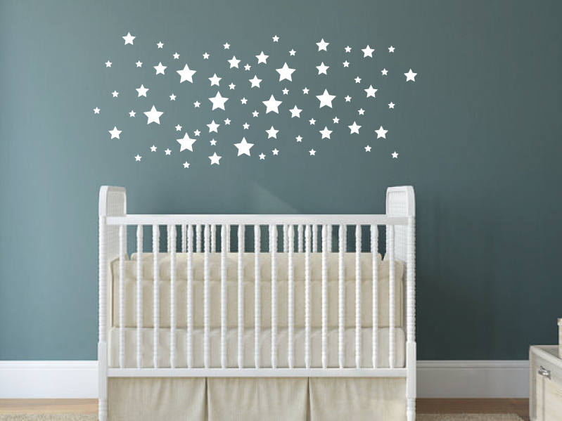 star wall decals nursery decor star wall vinyls   etsy