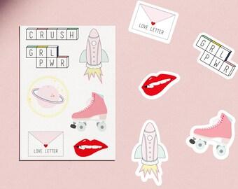 Cosmic Stickers 7 Pink 90'S Vinyl Stickers