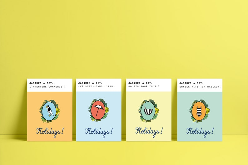 Lot of 4 postcards Jacques said/holidays image 0