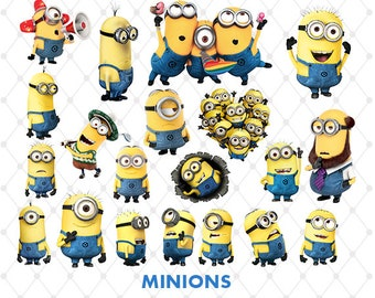 Minions Clipart, PNG Clip Art Files, Minions Printable Images, Digital Download, Scrapbook, Minions Despicable Me Party, Blue-043