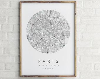 312d7269 Paris Map, Minimalist Map, Paris Print, Paris Poster, Paris Art, Modern Map  Print, Map of Paris, Paris, France, Paris City Map