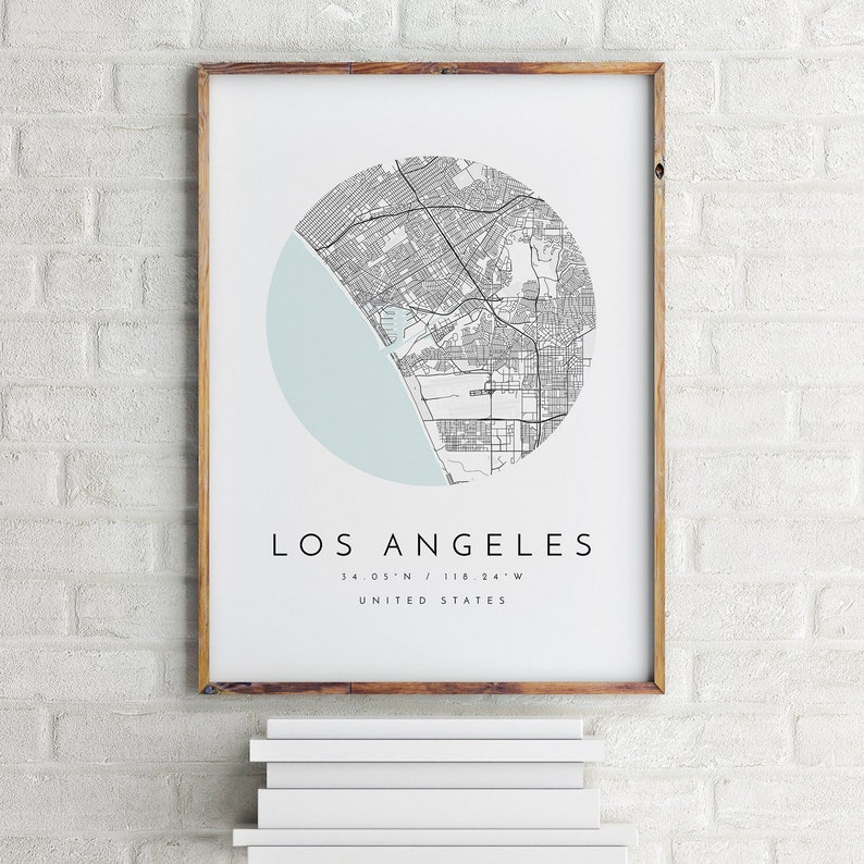 photograph relating to Printable Map of Los Angeles identified as Los Angeles Map, Minimalist Map, Los Angeles Print, Los Angeles Poster, Los Angeles Artwork, Progressive Map Print, Map of Los Angeles, Los Angeles